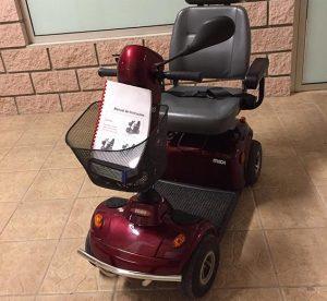 Stannah Midi roja scooter movilidad