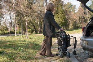 silla de ruedas transportable coche